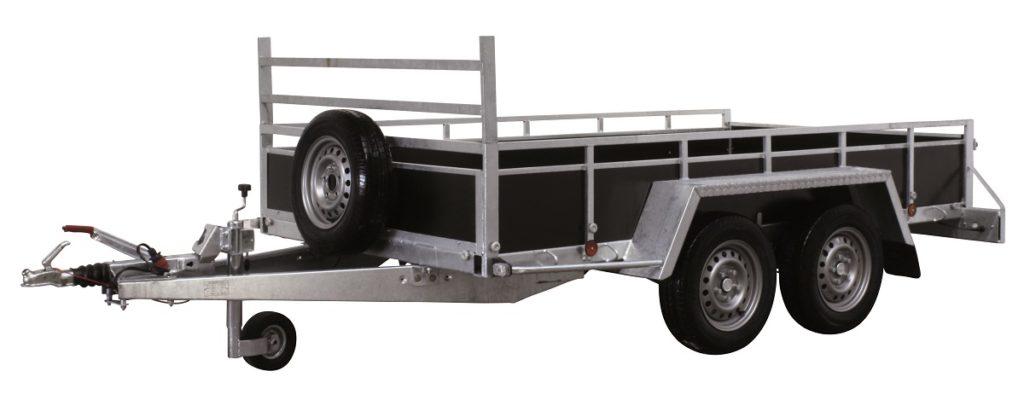 Remorque standard freinée double essieux